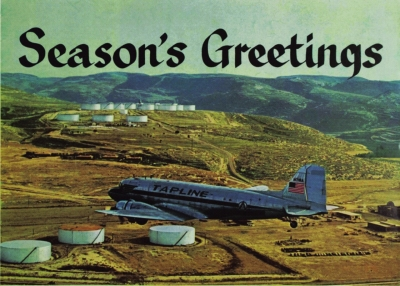 Seasons Greetings. An Annotated postcard, Courtesy Rayyane Tabet
